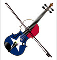 texas fiddle vector image vector image