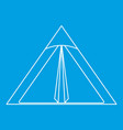 triangle tent icon outline style vector image vector image