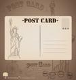 Vintage postcard designs vector image vector image