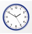 wall office clock vector image vector image