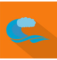 wave composition icon flat style vector image