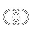 wedding rings black color icon vector image vector image