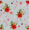 winter happy holiday pattern vector image vector image