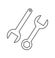 wrench with circle icons vector image vector image