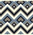 pixel zig-zag seamless pattern vector image