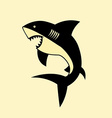 shark design vector image