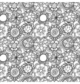 Seamless lace floral pattern on white background vector image