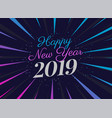 2019 party style new year background vector image vector image