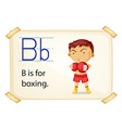 A letter B for boxing vector image vector image