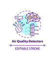air quality detectors concept icon
