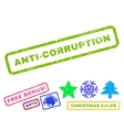 Anti-Corruption Rubber Stamp vector image vector image