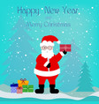beautiful greeting card with santa claus and vector image vector image