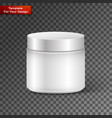 blank cosmetic container for cream powder or gel vector image vector image
