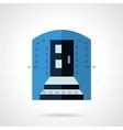 Blue color entrance flat icon vector image vector image