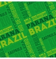 brazil poster isolated icon design vector image vector image