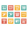 business technology communications icons vector image vector image