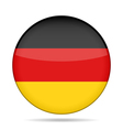 button with Germany flag vector image vector image