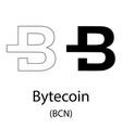 bytecoin black silhouette vector image vector image