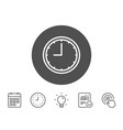 clock line icon time or watch sign vector image