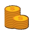 coins stack money sketch vector image