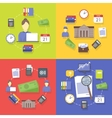 collection flat and colorful business vector image