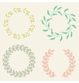 Colored Laurel Wreaths vector image vector image