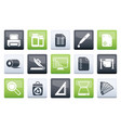 commercial print icons over color background vector image vector image