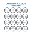 Communication icon Smartphone laptop and chat vector image vector image