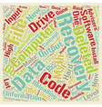 Computer Data Recovery text background wordcloud vector image vector image
