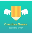 Creative idea with pencil and vector image