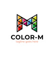 creative poly letter m logo simple modern stylish vector image
