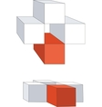 cubes color 12 vector image vector image