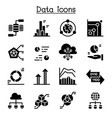 data information diagram graph icon set vector image vector image