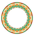 egyptian circular ornament vector image