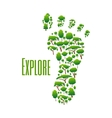 Environmental protection and nature explore poster vector image vector image