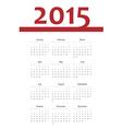 European 2015 year calendar vector image vector image