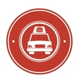 fast food delivery car vector image