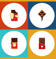 flat icon sweet set of delicious shaped box vector image vector image