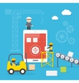 Flat style concept of mobile app developement vector image vector image