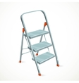 Foldable stepladder isolated on white background vector image