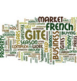 French gites lifestyle or a business text vector image