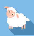 happy sheep icon flat style vector image vector image