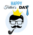 hipster dad card vector image vector image