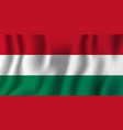 hungary realistic waving flag national country vector image vector image