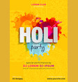 indian festival colors happy holi celebration vector image vector image