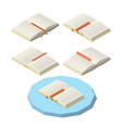 isometric open book vector image vector image