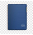 leather sketchbook icon realistic style vector image