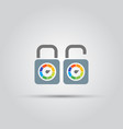 lock isolated colored icon vector image vector image