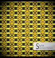 lotus floral mesh ribbon gold vintage geometric vector image vector image