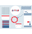 Marine design backgrouns set for summer vector image vector image